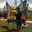 jual patung fiber kupu-kupu - harga patung fiber