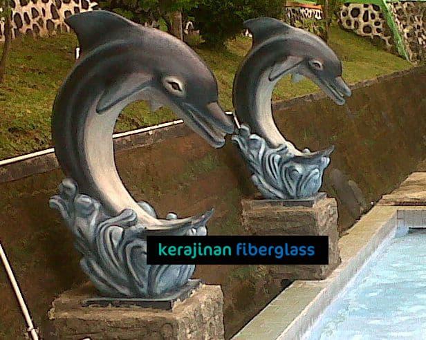 jual patung fiber lumba-lumba - produksi patung fiber