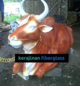 jual patung fiber sapi - patung fiber bali